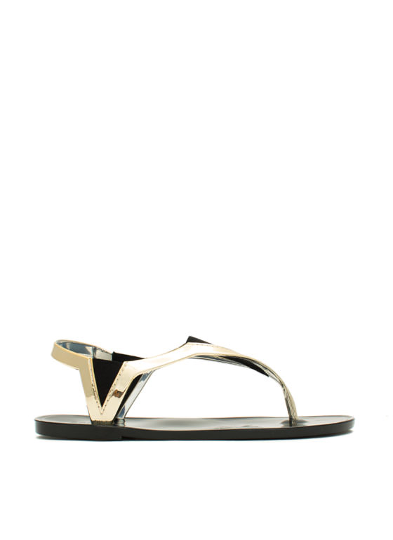 State Of The Dart Jelly Sandals GOLD