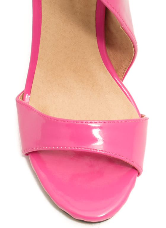 Panel Shield Single-Sole Heels PINK