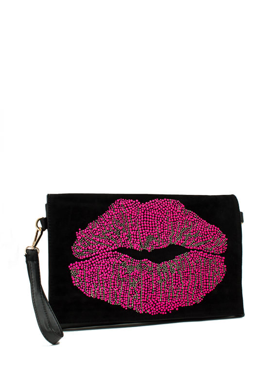 Hot Lips Clutch BLACKFUCH
