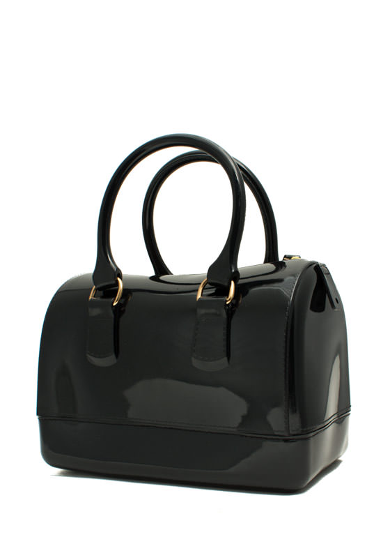 Jelly Mini Bowler Bag BLACK