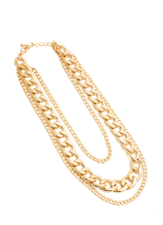 Tri-Chain Necklace GOLD