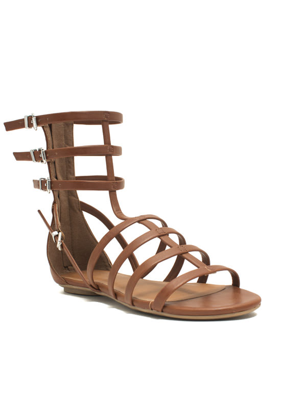 Battle Babe Gladiator Sandals DKTAN