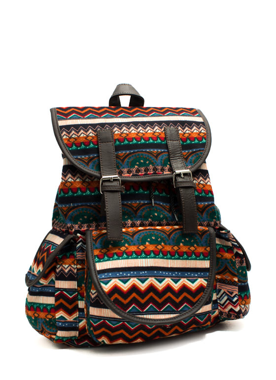 Multicolored Felt Backpack MULTI