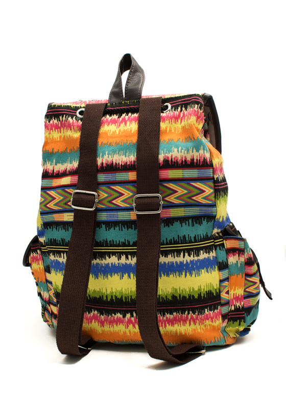 Multicolored Canvas Backpack MULTI