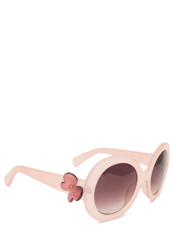 Butterfly Accent Sunglasses PINK