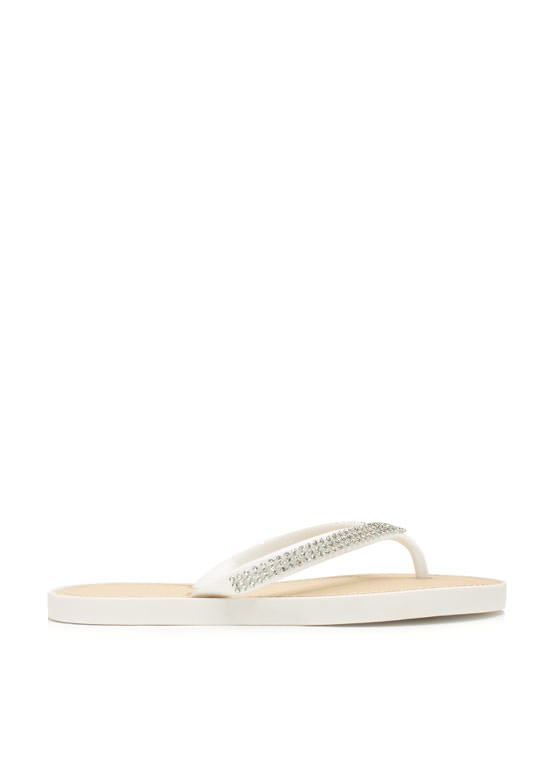 The Jewels Thong Sandals WHITE