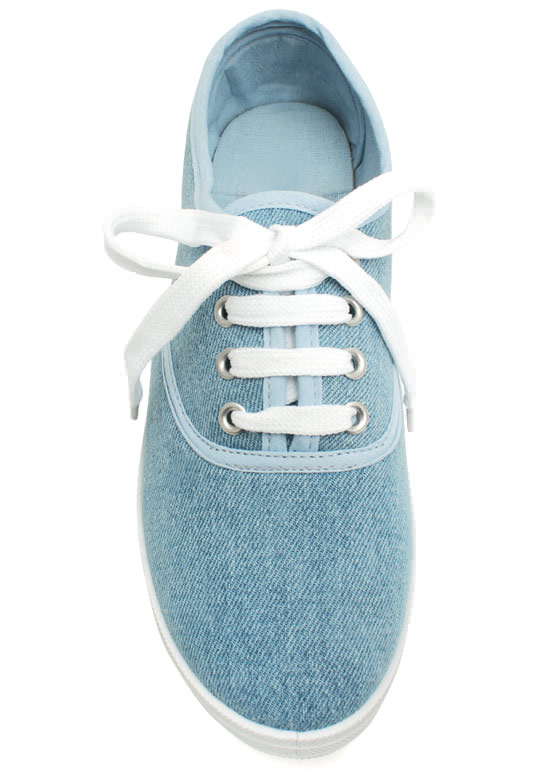 Solid Foundation Canvas Sneakers LTBLUE