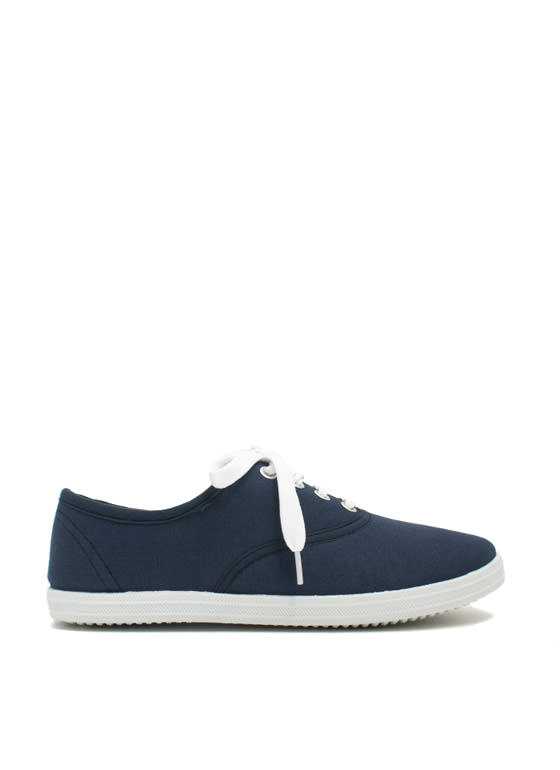 Solid Foundation Canvas Sneakers NAVY