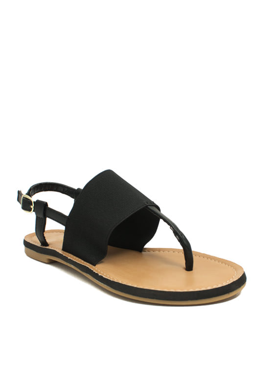Stretch The Rules Elastic Sandals BLACK