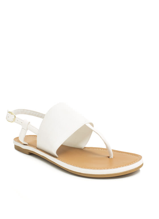 Stretch The Rules Elastic Sandals WHITE