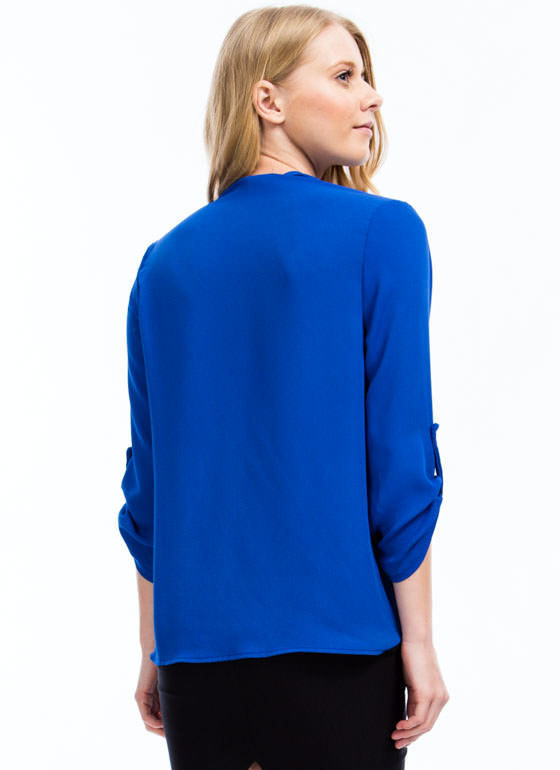Twist N Shout Surplice Top ROYAL