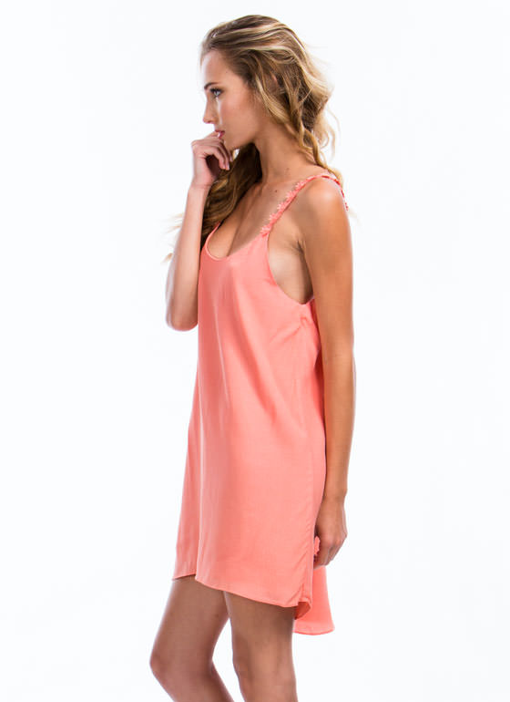 Daisy Chains Cami Shift Dress CORAL