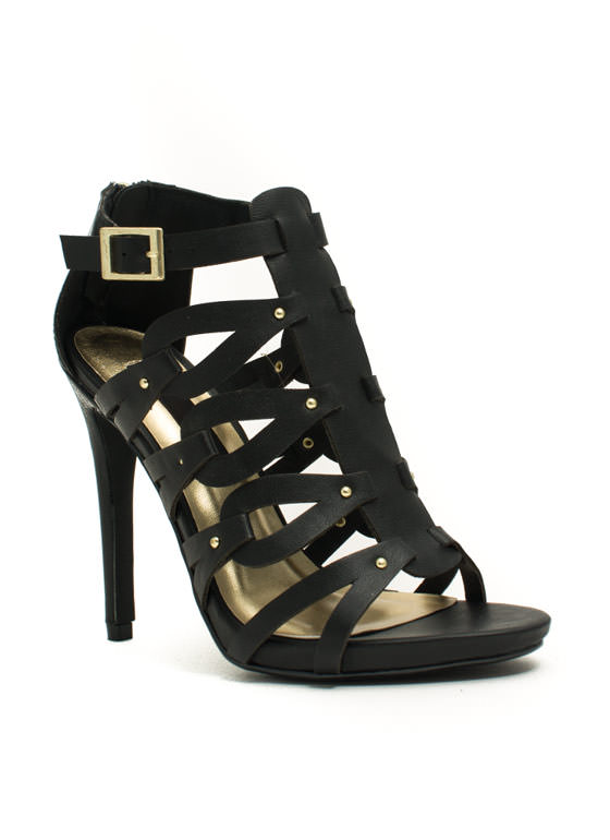Keep You In The Loop Stiletto Heels BLACK