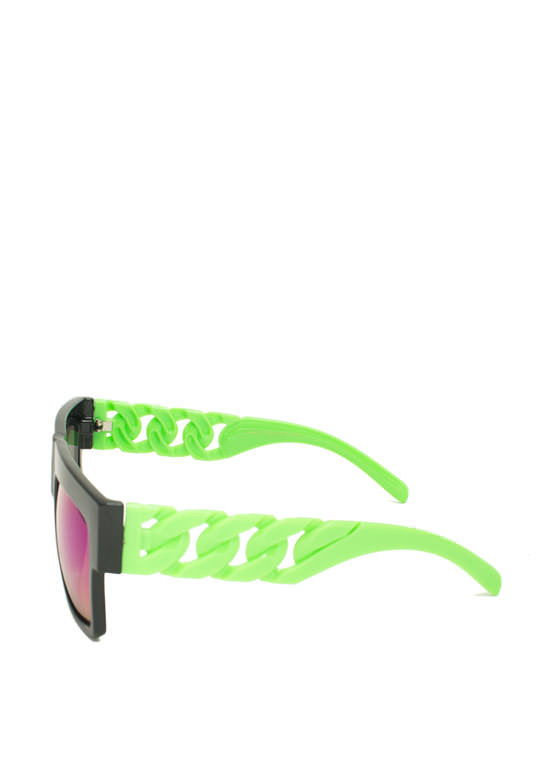 Never Chain-ge Sunglasses GREEN