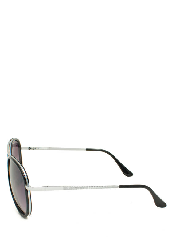 Color Me Surprised Aviator Sunglasses BLACK