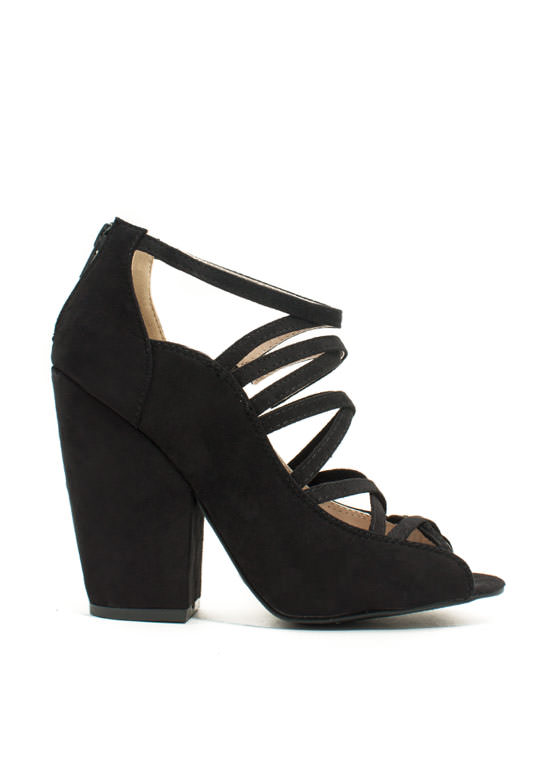 Steady As You Go Chunky Heels BLACK
