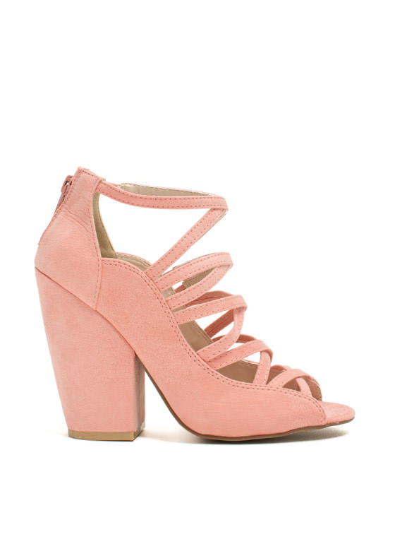 Steady As You Go Chunky Heels SALMON