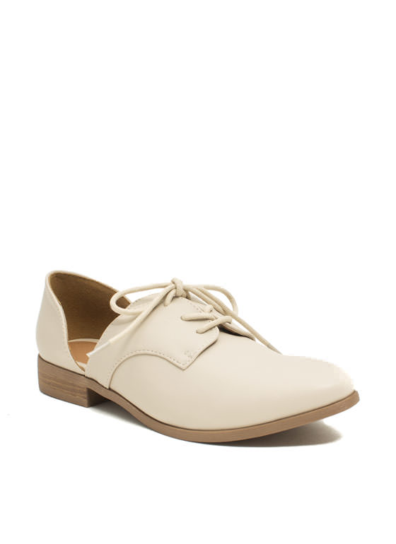 Cut Away Oxford Flats STONE