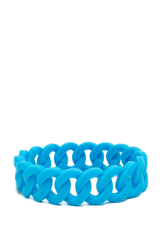 Stretchy Jelly Cable Chain Bracelet BLUE