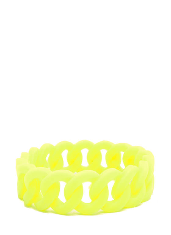 Stretchy Jelly Cable Chain Bracelet NEONYELLOW