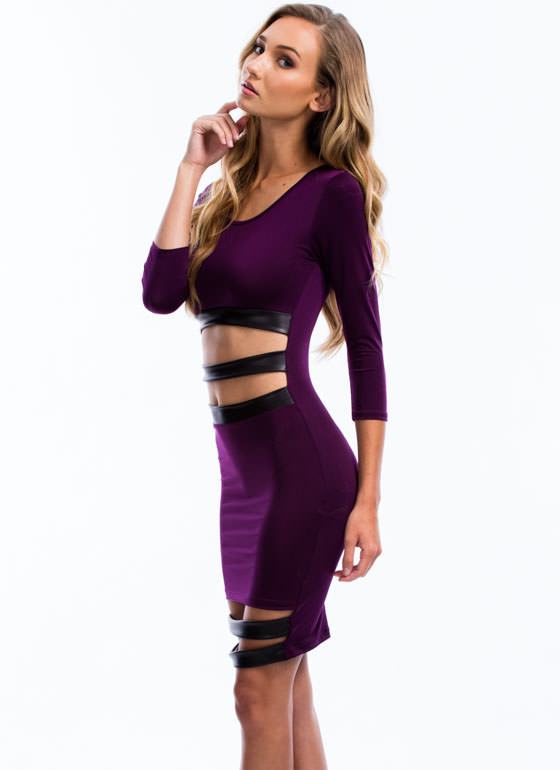 Sneak Peek Bodycon Dress PURPLE