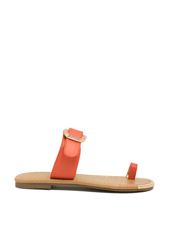 Single Life Buckled Sandals ORANGE