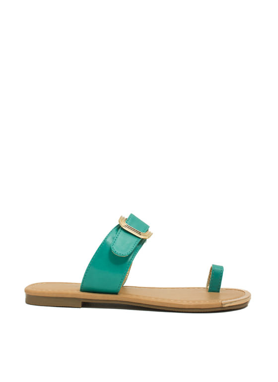 Single Life Buckled Sandals TEAL
