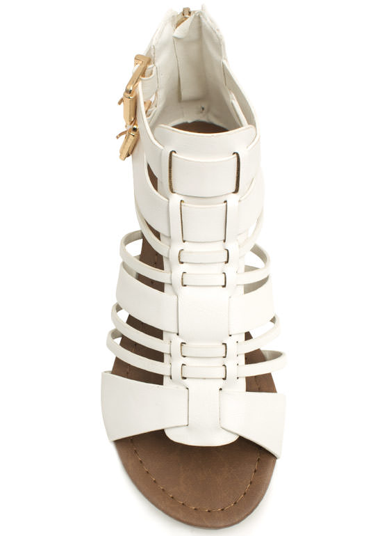 What's Strappening Buckled Sandals WHITE