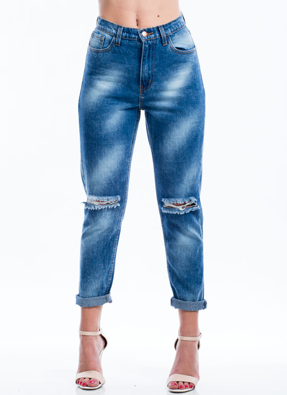 Cloud Wash Boyfriend Jeans BLUE