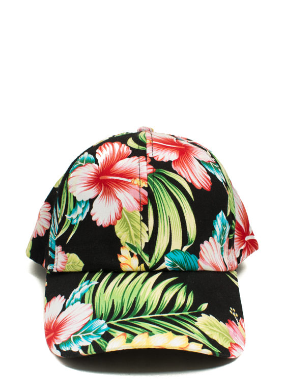 Tropical Print Snapback BLACKMULTI