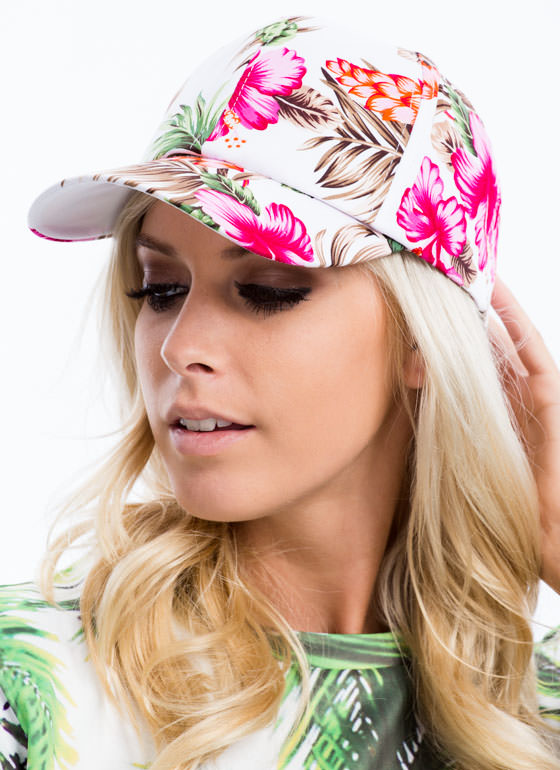 Tropical Print Snapback WHITEMULTI
