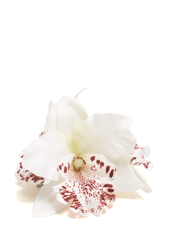 Orchid Bundle Hair Accessory WHITE