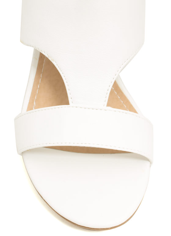 Double Up Cut-Out Heels WHITE