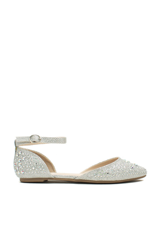 Flashy Lights Embellished Flats SILVER