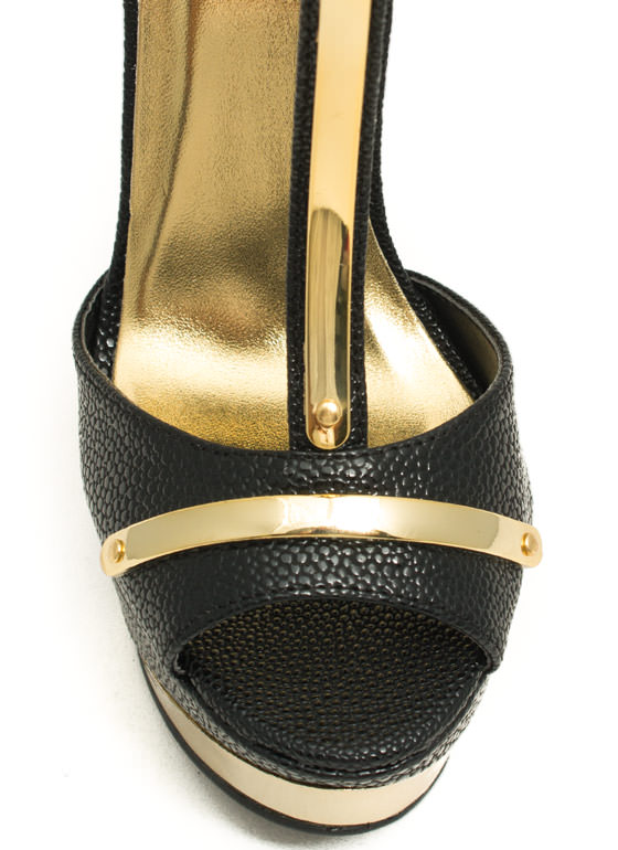 Scale These Heights Plated Platforms BLACK