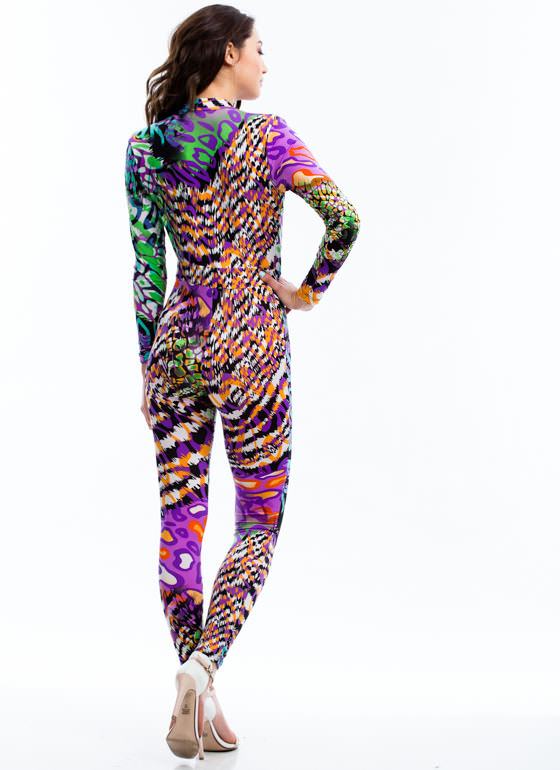 Animal Fusion Jumpsuit PURPLE