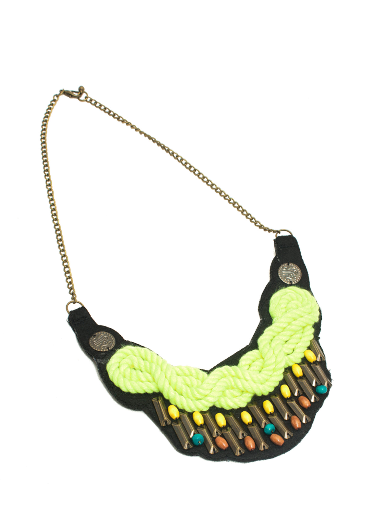 Knotted Rope Bib Necklace NYLLWMULTI