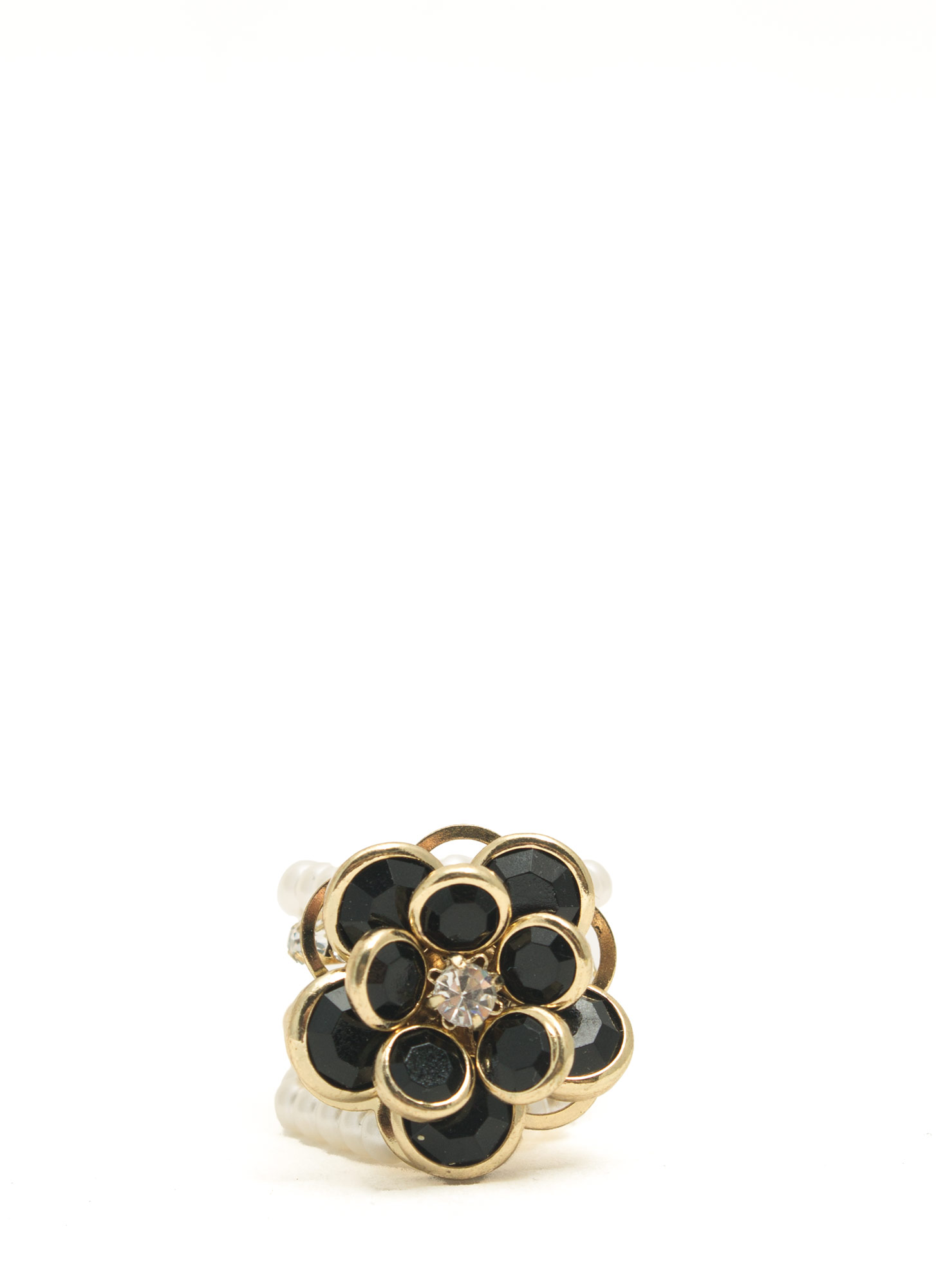 Bejeweled Flower Ring GOLDMULTI
