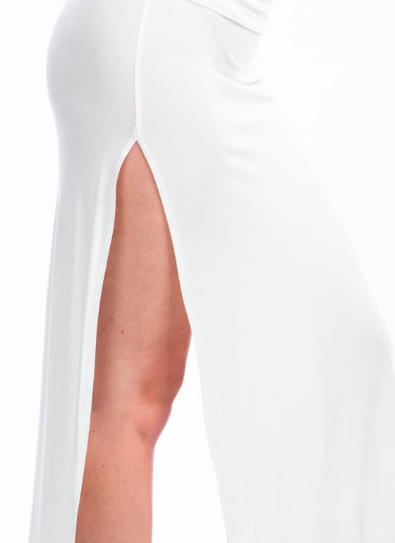 Double Trouble Slit Maxi Skirt IVORY