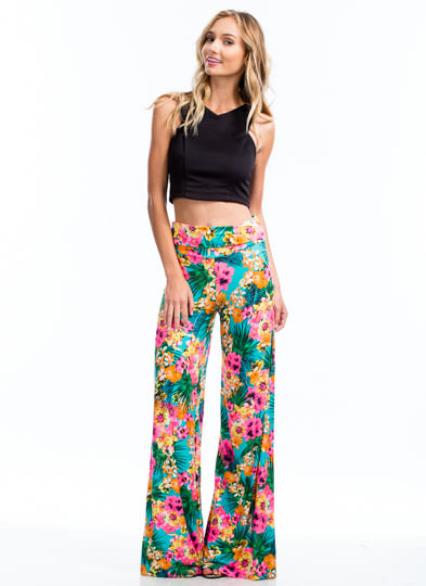 To The Tropics Palazzo Pants PINK