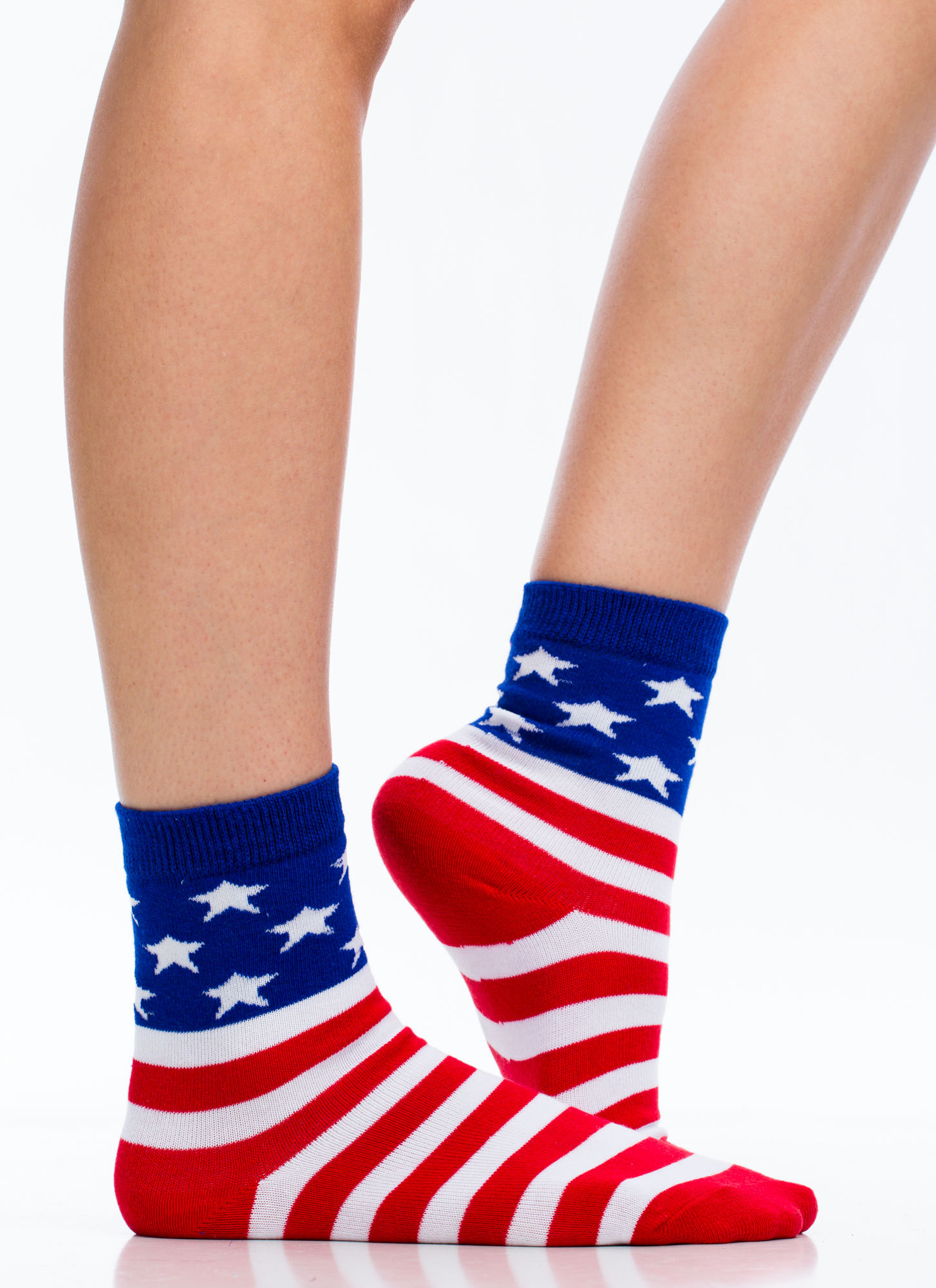 American Flag Ankle Socks REDBLUE