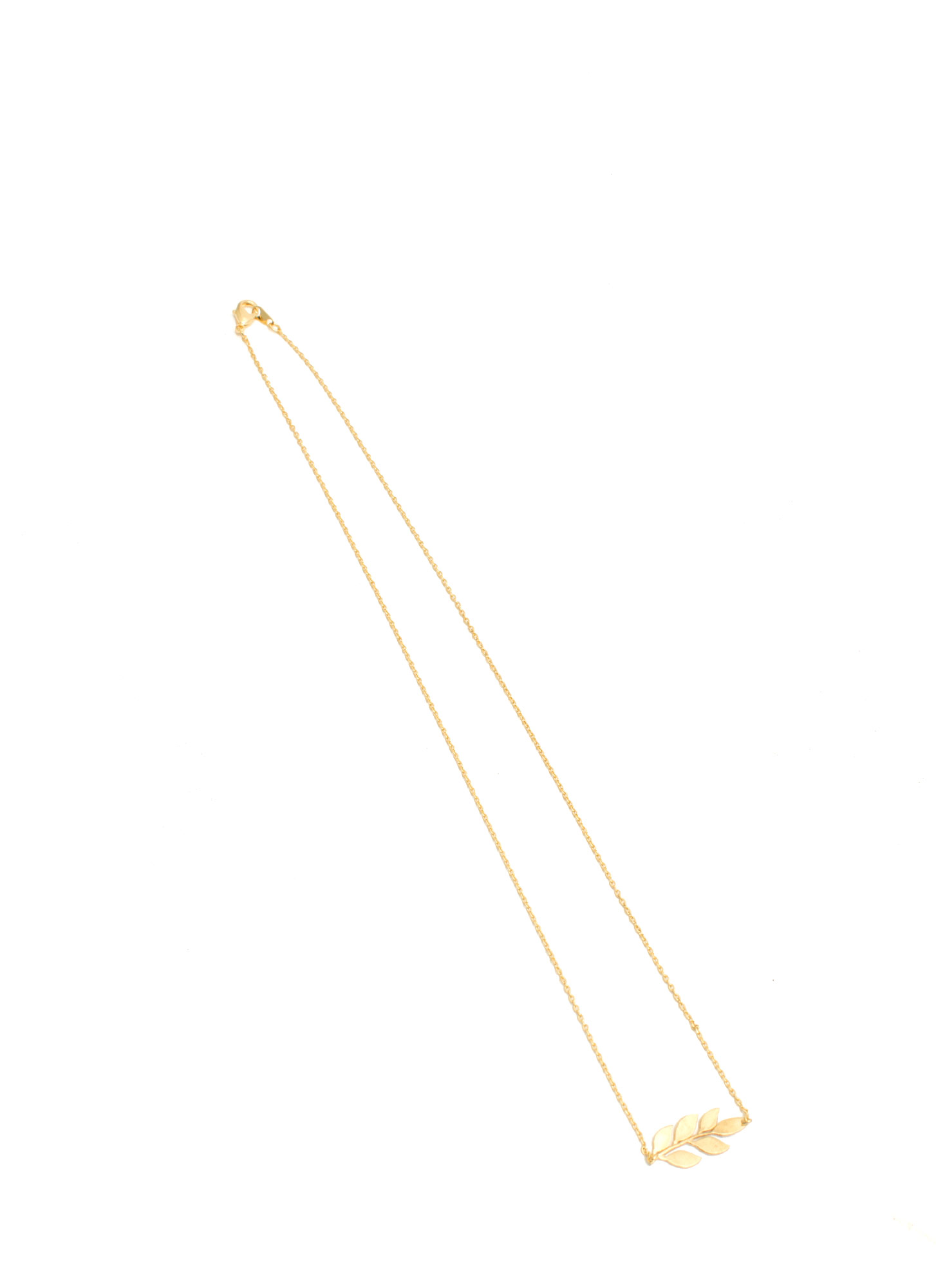 Branch Of Leaves Dainty Necklace GOLD