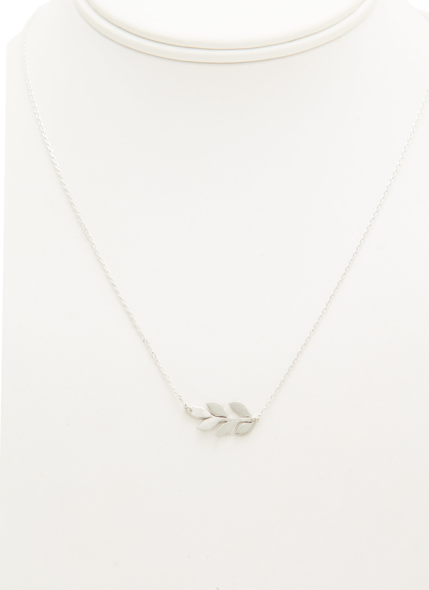 Branch Of Leaves Dainty Necklace SILVER