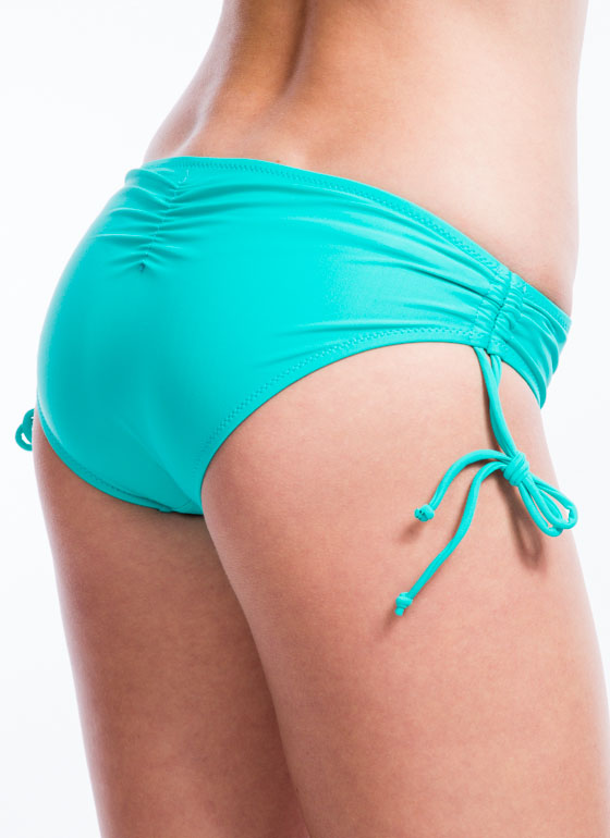 Sun Worshipper Ruched Bikini Bottoms EMERALD