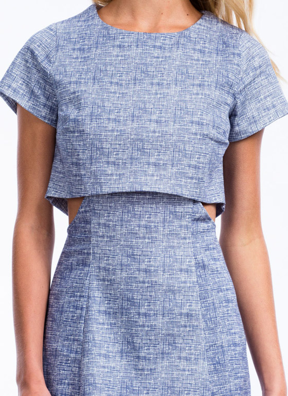 Crosshatch A Scheme Cut-Out Dress BLUE
