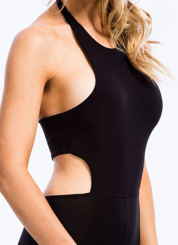 Smooth Criminal Halter Jumpsuit BLACK