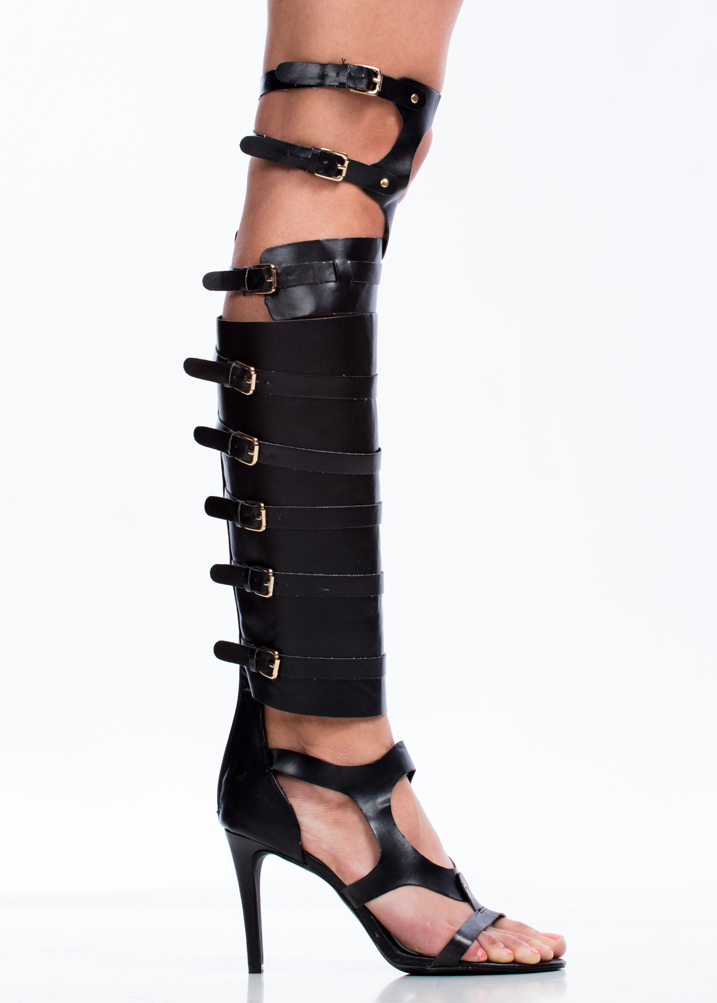 Out Of Bounds Harness Heels BLACK