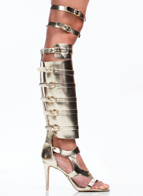 Out Of Bounds Harness Heels LTGOLD