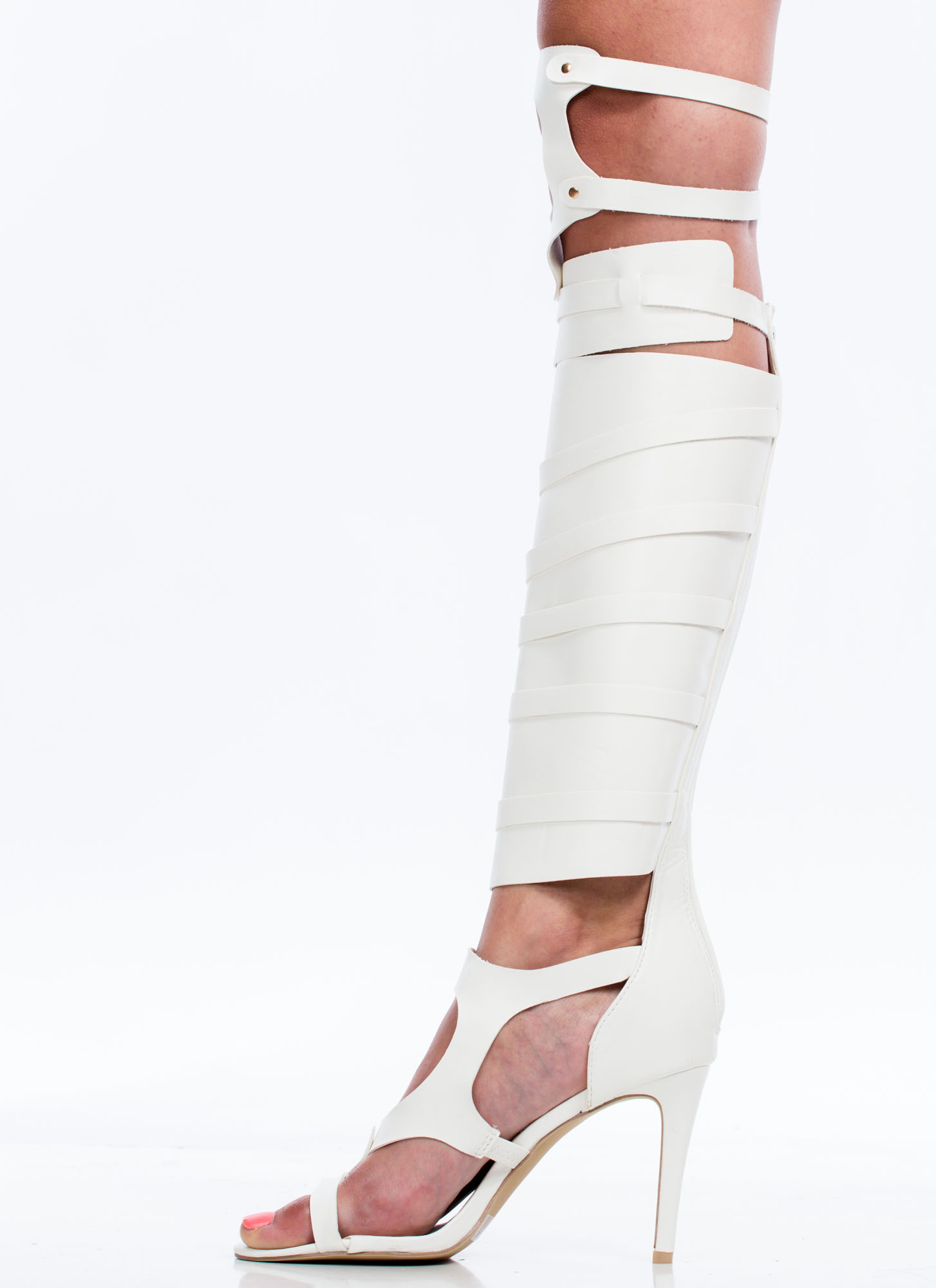Out Of Bounds Harness Heels WHITE
