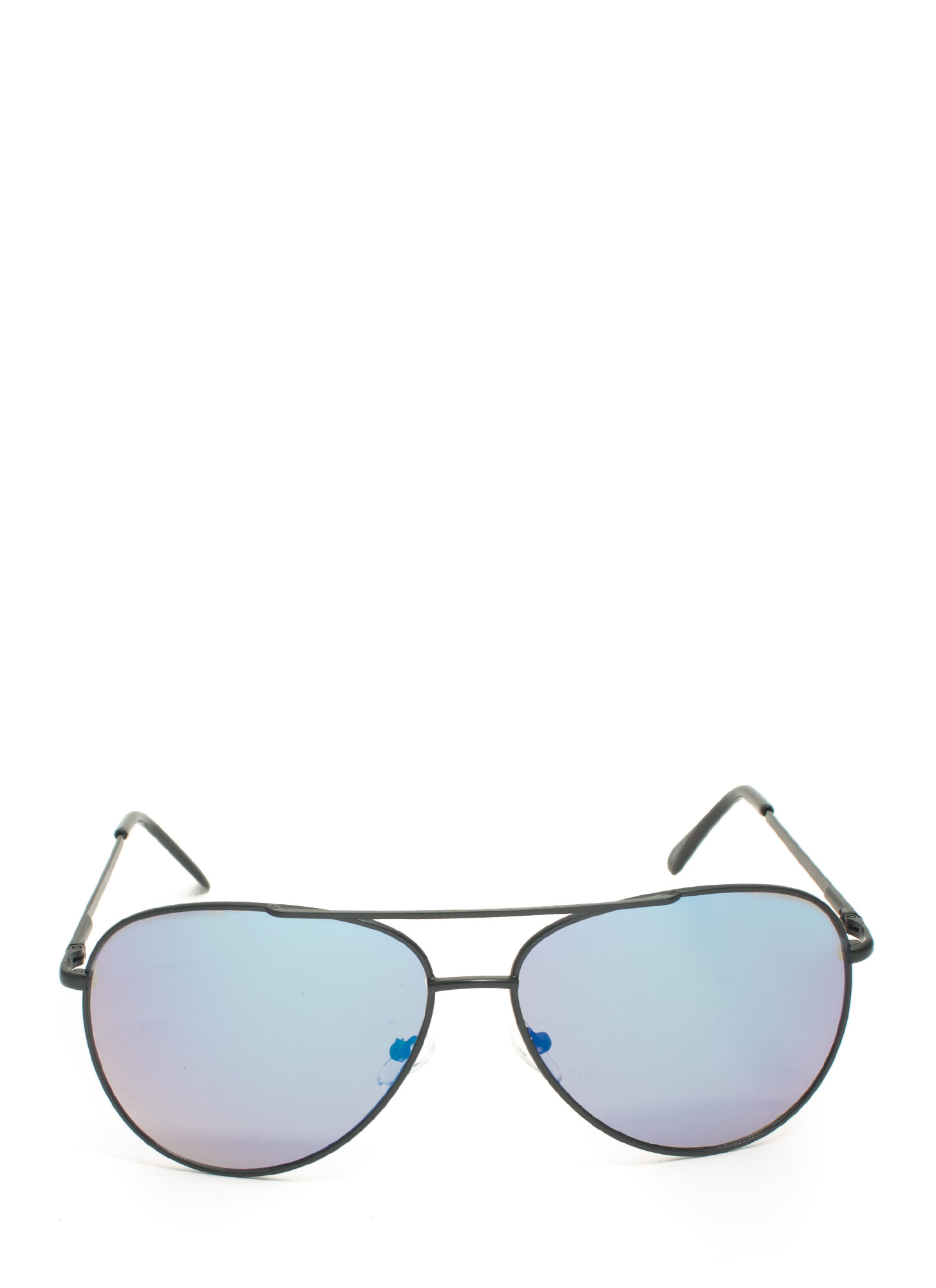 Reflecting Pool Aviator Sunglasses BLUEMBLACK